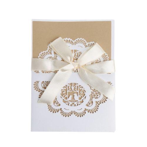 10pcs wedding invitation card kit with envelopes seals personalized 10pcs wedding invitation card kit with envelopes seals personalized printing new stopboris Image collections