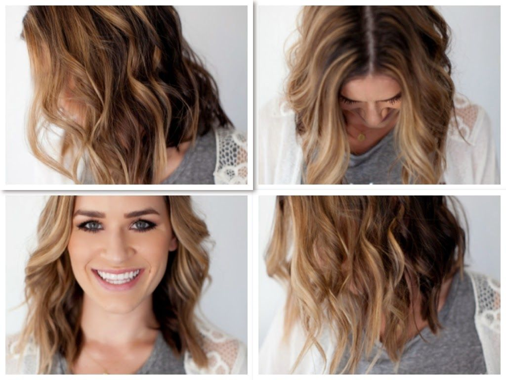 wavy hair tutorial, long bob, short hair curls, hair tutorial