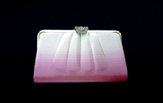 Vintage Japanese Kimono  Bag Clutch Pink Ombre by VintageFromJapan, $25.00