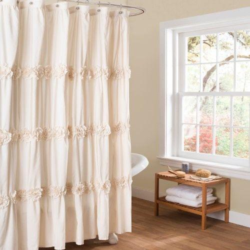 Lush Decor Darla Shower Curtain Beige