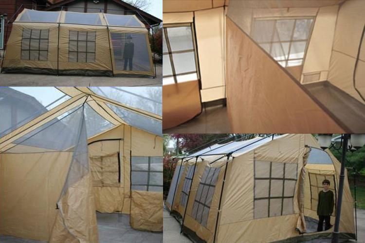 Giant 10 Person Tent House Shaped Tent Northwest Territory Ten Person Cabin Tent Porch Tent Tent Tent Living