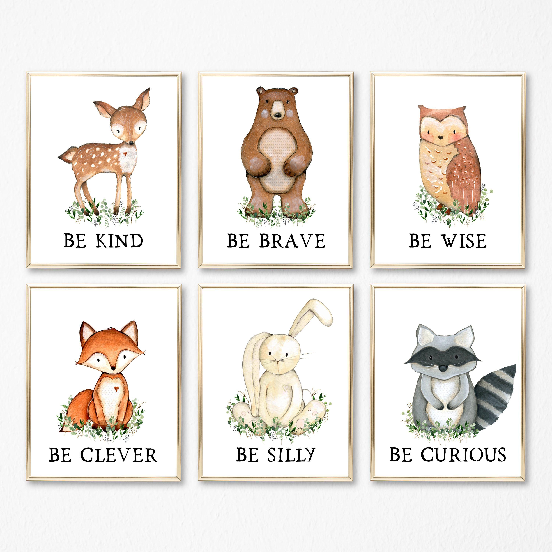 Nursery Wall Art Animals. Printable Woodland Nursery Decor