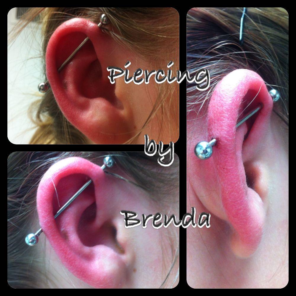 Body piercing near me  Industrial piercing  Piercings done by me  Pinterest  Industrial