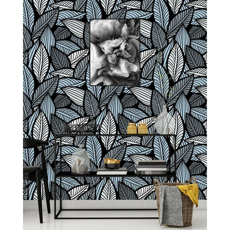 Momsen Bold Leaves 50 L X 25 W Peel And Stick Wallpaper Panel Peel And Stick Wallpaper Wallpaper Panels Removable Wallpaper