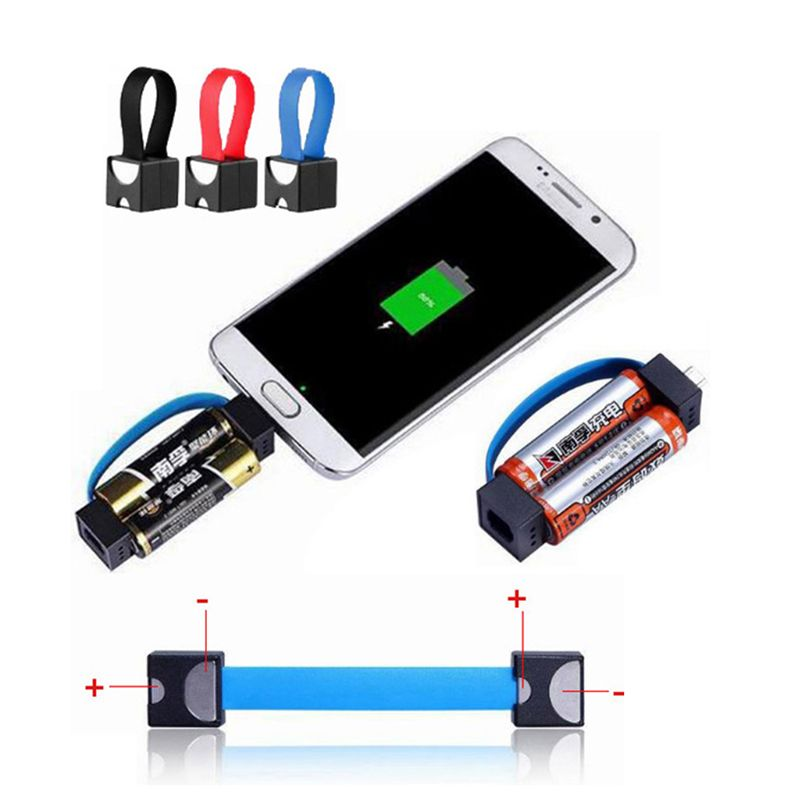 Portable Magnetic Aa X2f Aaa Battery Micro Usb Emergency Charger For Android Phone In Mp3 X2f Mp4 Player Char Phone Charger Portable Charger Mobile Phone