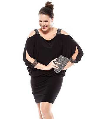 05235a742bb The Dress Diaries Plus Size Blouson Studded Party Dress Look - Party Dress  - Plus Sizes - Macys