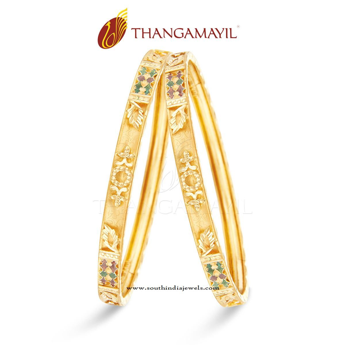 Traditional Gold Bangle Design for Daily Use | Gold bangles design ...