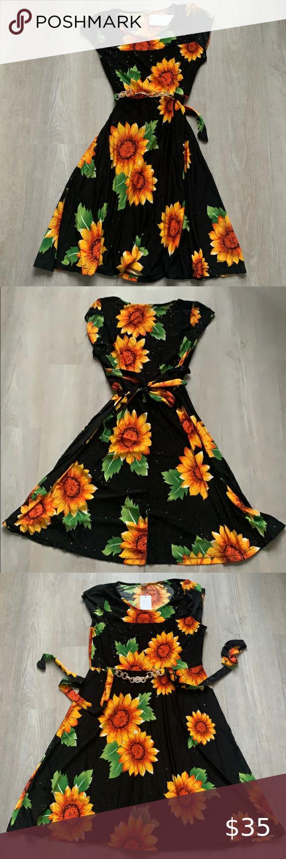 Sunflower Midi Dress Midi Dress Boutique Sunflower Dress Clothes Design [ 1740 x 580 Pixel ]
