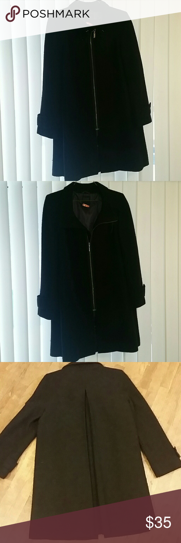 Hilary Radley peacoat This is a lovely peacoat from Hilary Radley.. worn multiple times.. still in great condition..  size 12 Knee length..  exterior 100% wool..  interior 100% polyester hilary radley  Jackets & Coats Pea Coats