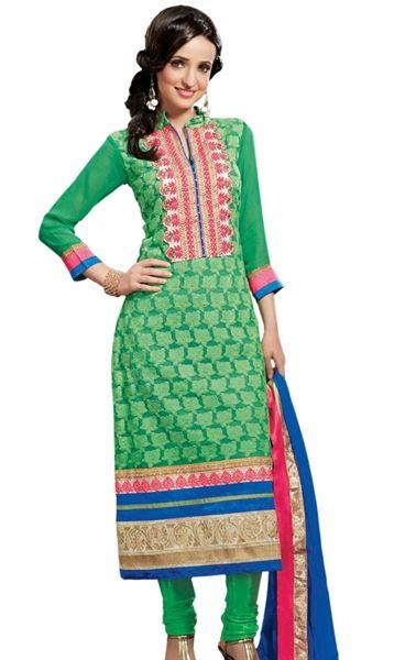 Attractive Green Color Latest Designer Salwar Kameez with Dupatta HSPMAH1007 - www.indianwardrobe.com