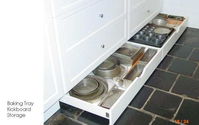 Baking Tray Kickboard Storage Idea Bathroom Inspiration