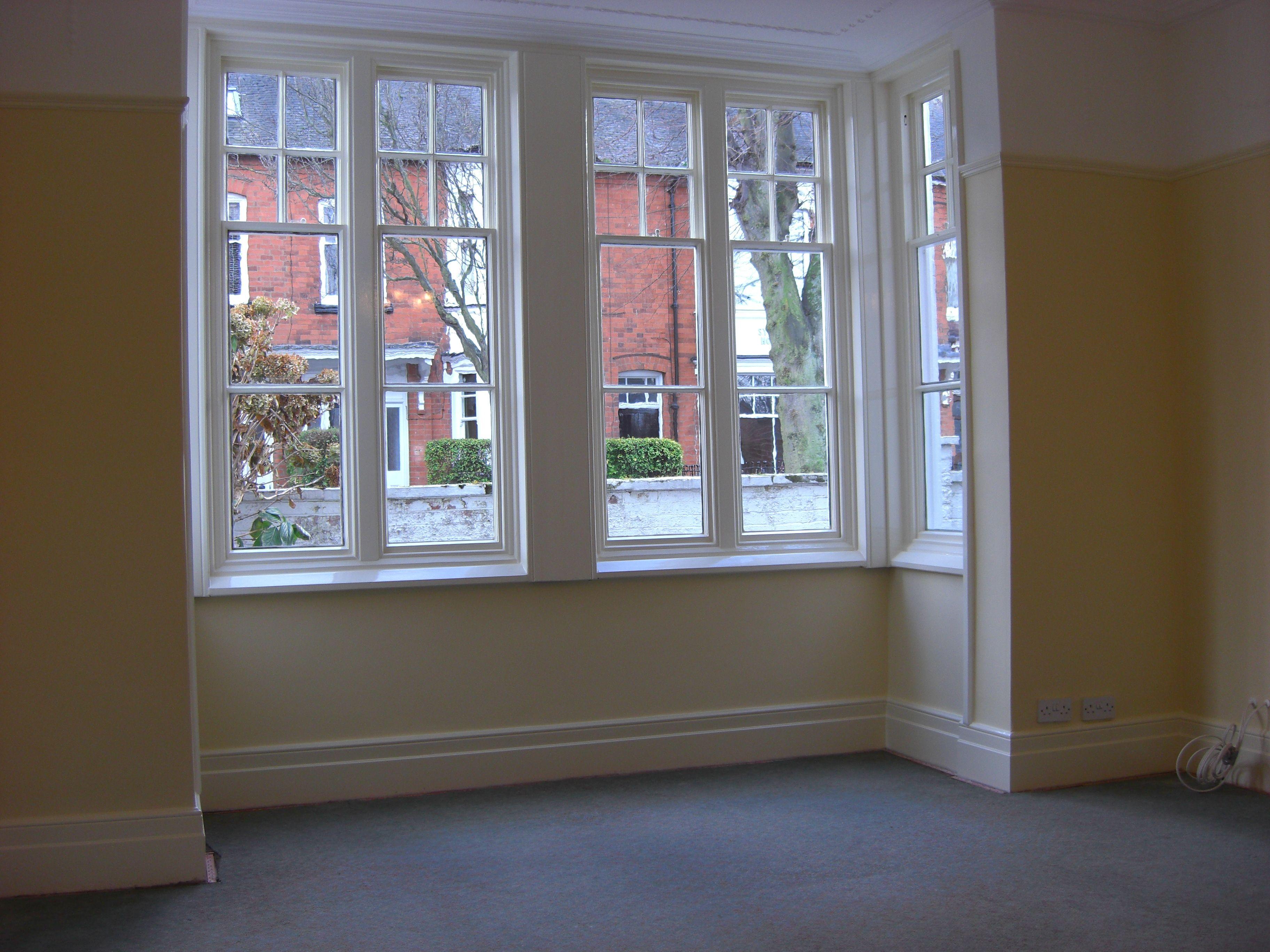 Square Bay Sash Window With Images Bay Window Design Sash Windows Bay Window