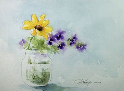 Garden Flowers Watercolor Painting Ii Flower Painting