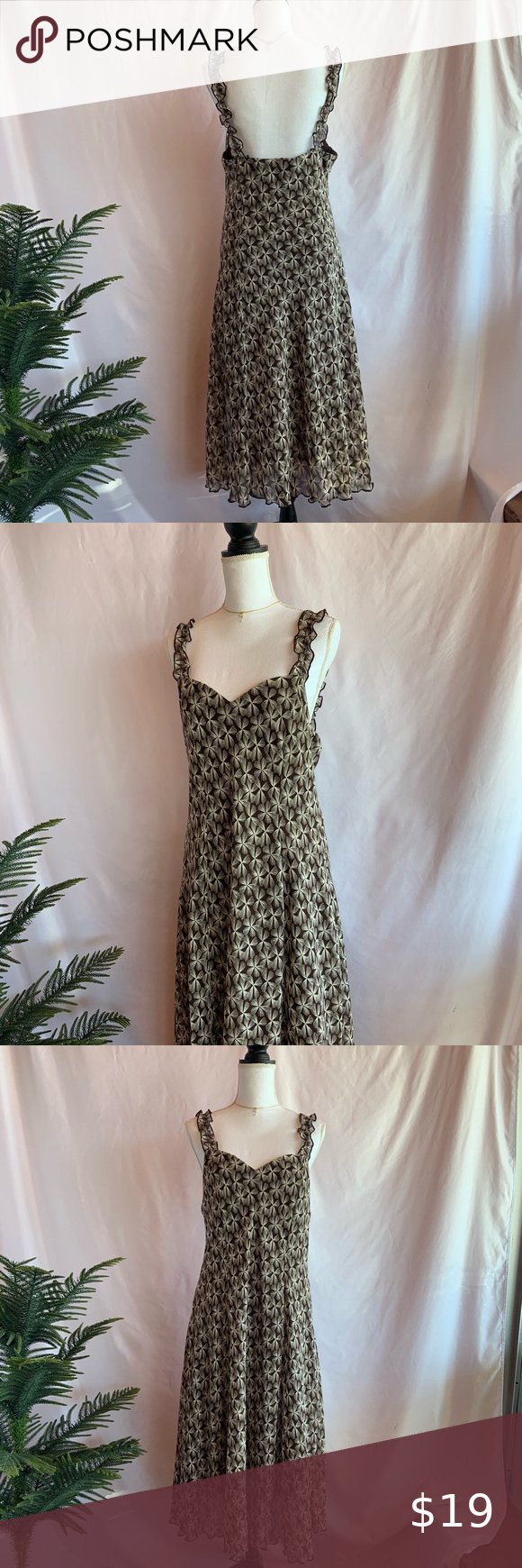 Connected Apparel Summer Dress Size 16 Connected Apparel Brand Beautiful Brown Color With White Print All Over Ruffle Connected Apparel Dresses Summer Dresses [ 1740 x 580 Pixel ]