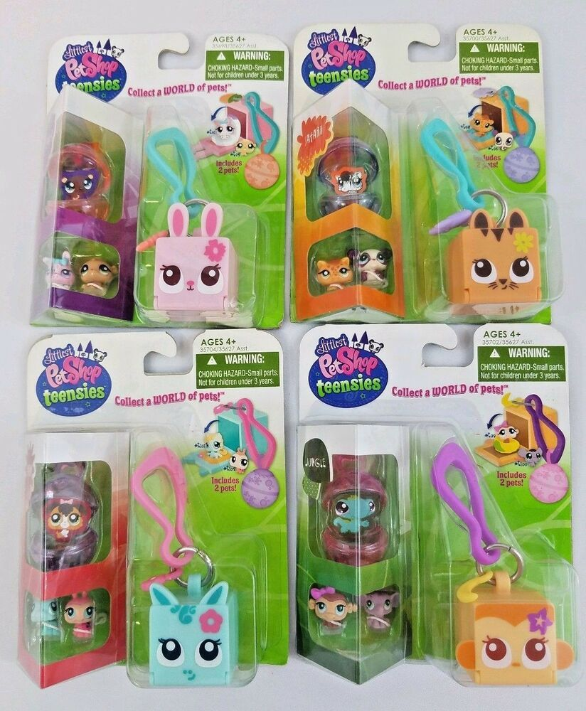 Littlest Pet Shop New Teensies Orig Safari Jungle Forest Farm Key Chain Bubbles Hasbro Pet Shop Littlest Pet Shop Little Pets