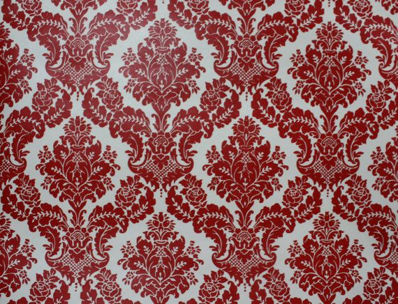 Retro Wallpaper by the Yard 70s Vintage Wallpaper – 1970s Red and White  Damask - Retro Wallpaper By The Yard 70s Vintage Wallpaper – 1970s Red And