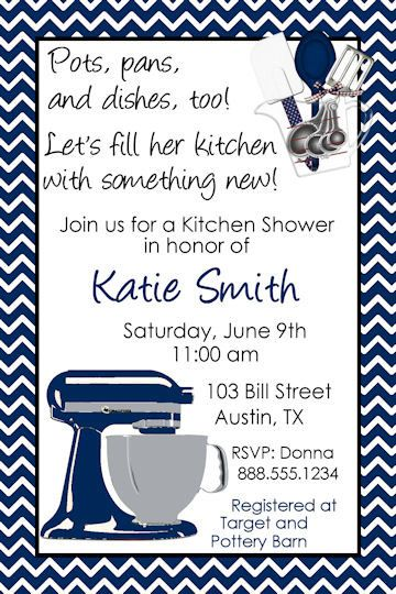 kitchen bridal wedding shower invitation mixer digital personlized you print invite bride groom coup