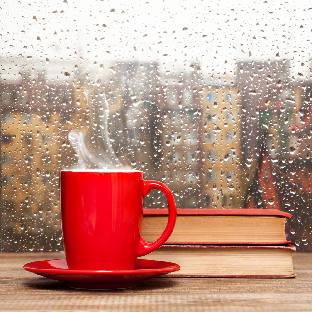 Famous Literary Quotes About Rain Coffee cups, Rainy