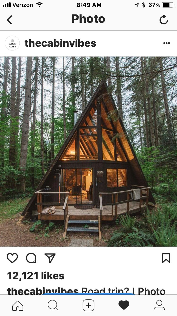 Pin By Maycol Popp On A Frame Tiny Cabins Log Cabin Homes Tiny House Design Cabin Homes