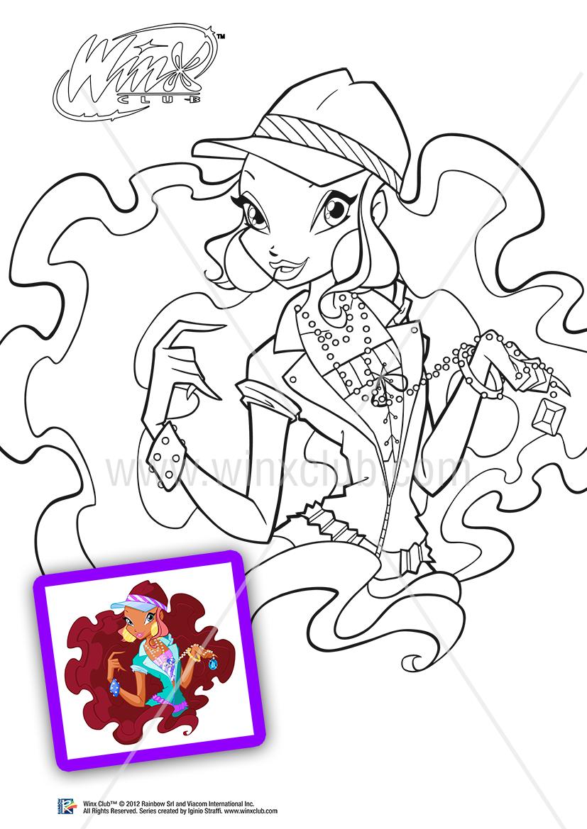 Coluroid Winx Da Colorare E Stampare Gratis Winx Club Sketches