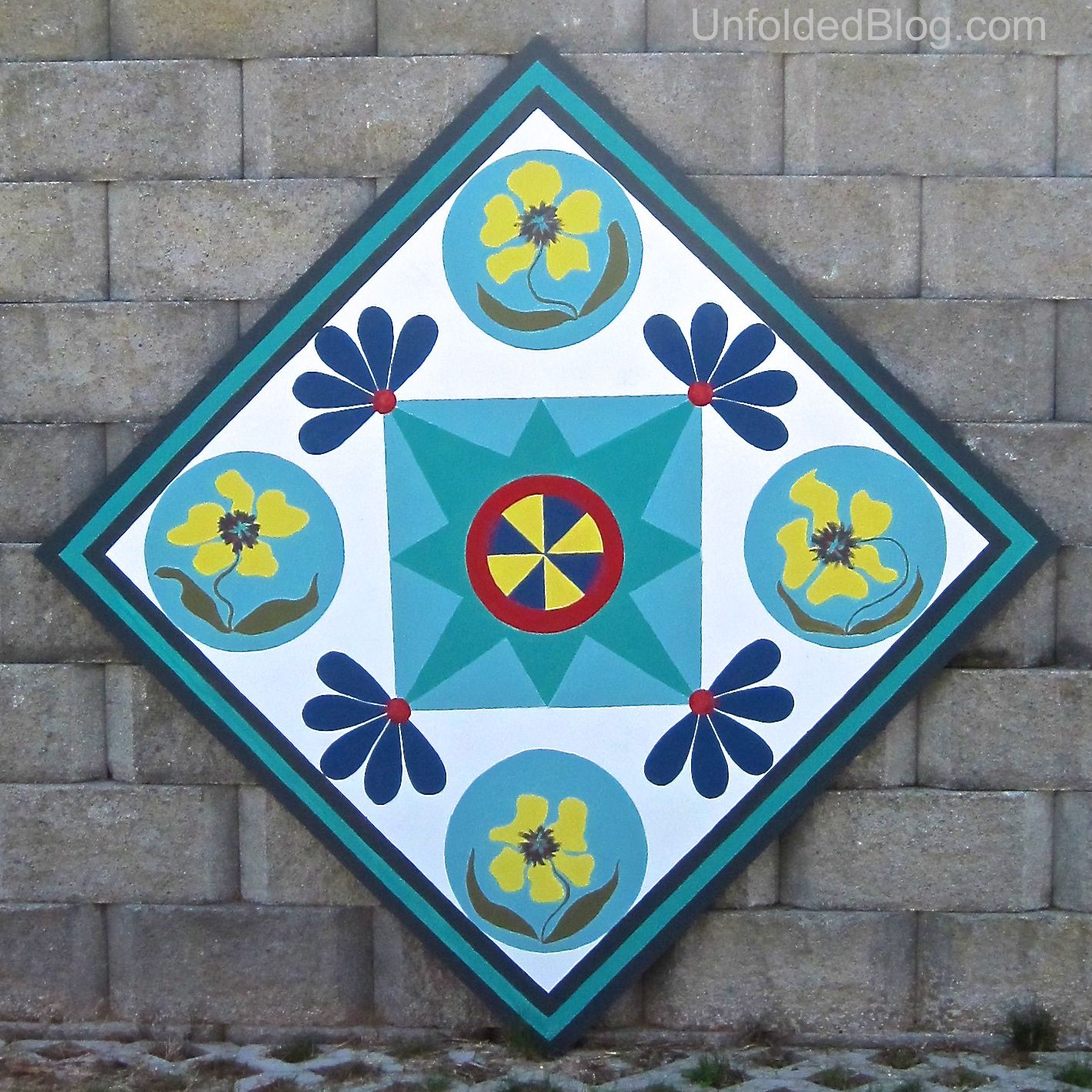 Debbie of the Unfolded Blog creates a beautiful barn quilt with Chalk Paint  decorative paint