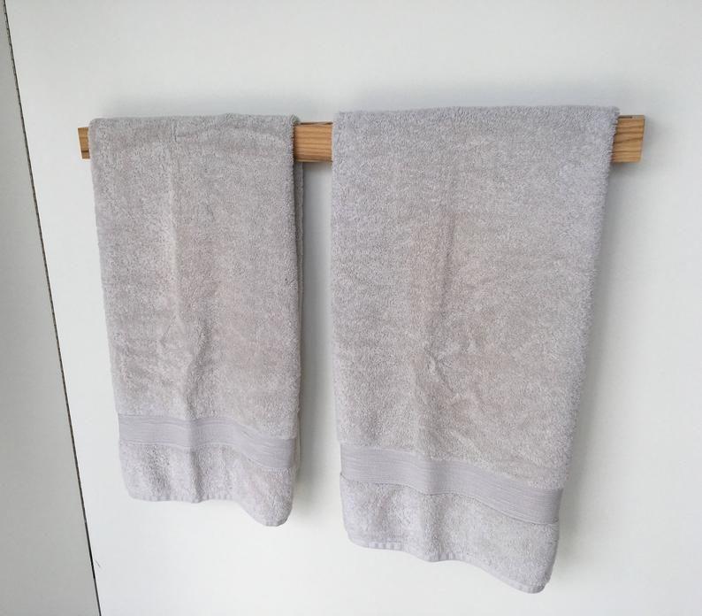 Badezimmer Handtuchhalter Toilettenpapierhalter Eiche