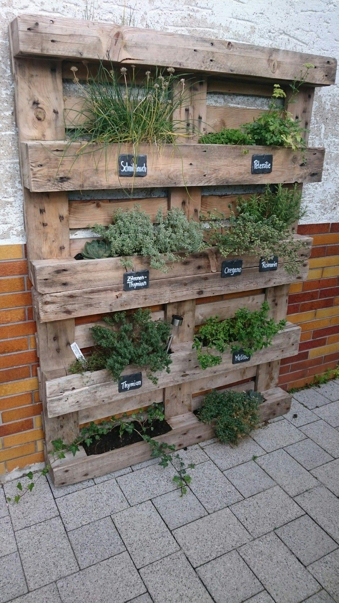 Kräuterpalette #DIY | Garten | Pinterest | Bücherregal selber bauen ...