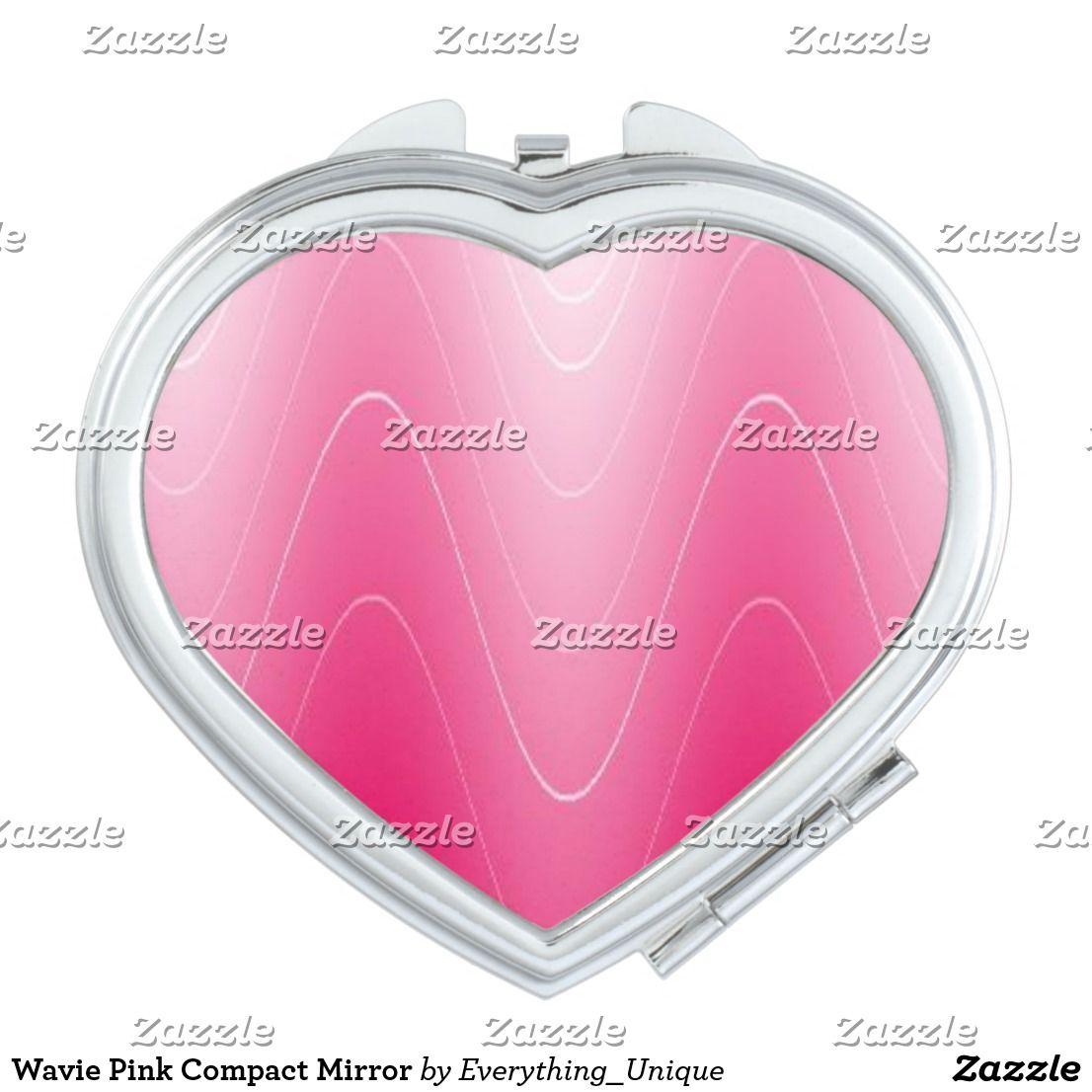 Pink Splash Compact Mirror
