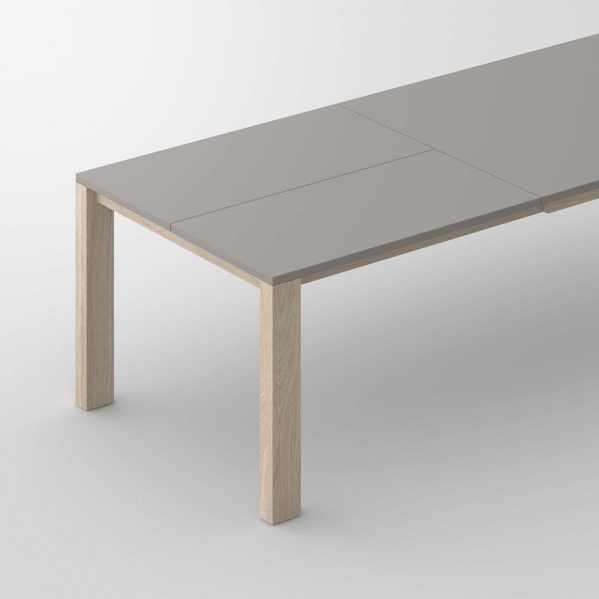 Extensible Linoleum Wood Table VARIUS BUTTERFLY LINO