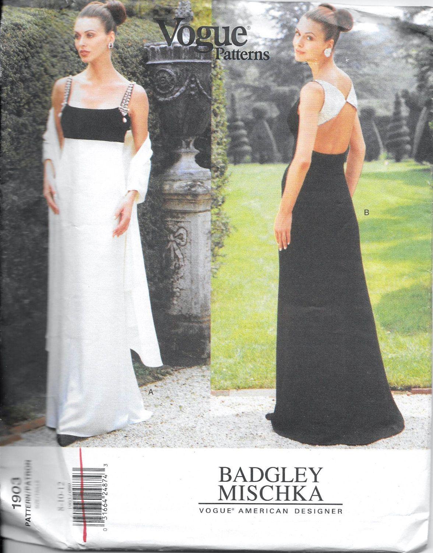 Vogue 1903 designer badgley mischka evening dress wrap sewing vogue 1903 designer badgley mischka evening dress wrap sewing pattern size 8 10 jeuxipadfo Choice Image