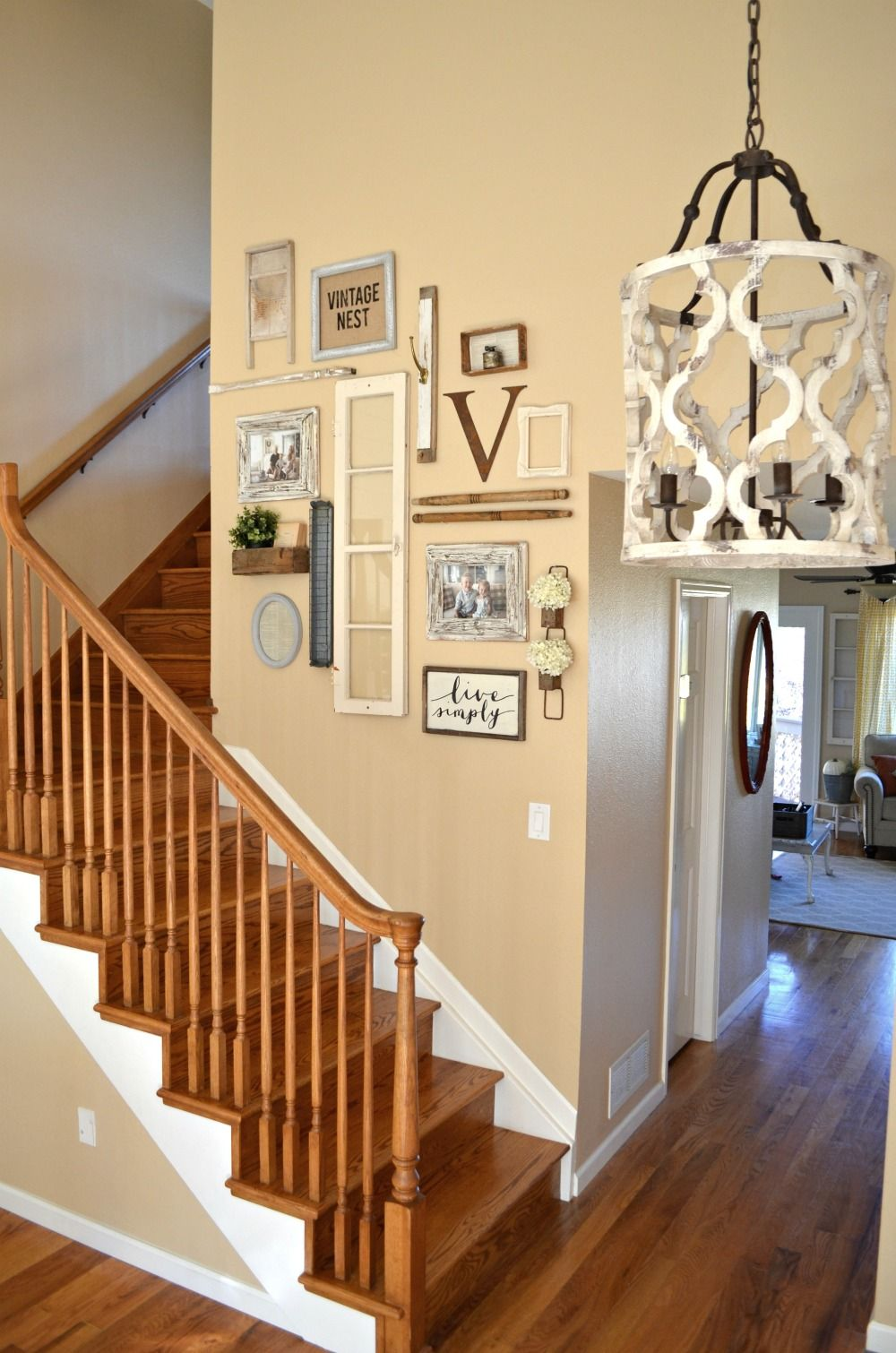 Staircase Update & Painting Options | Gallery wall, Staircases and Walls