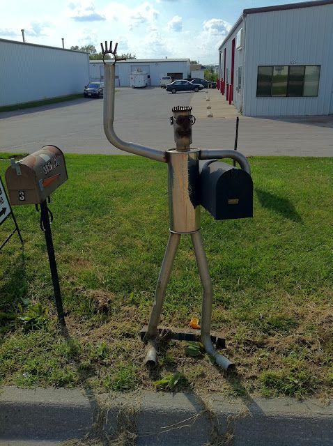 custom mailbox. Unique Mailbox Yard Art (Muffler): Funny, Original, Cool And Awesome Custom