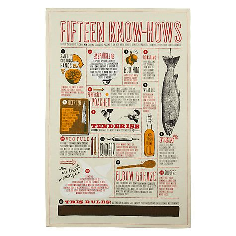 Buy Fifteen Knows How Tea Towel Online At Johnlewis Com Towels Online Tea Towels Towel