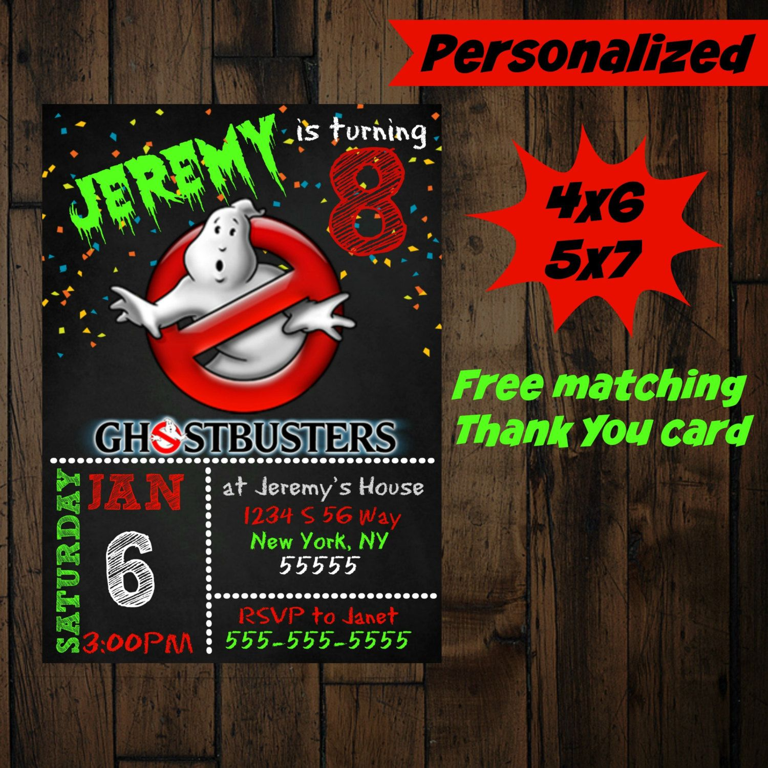 ghostbusters invitation printable ghostbusters birthday