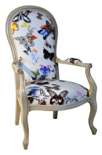 fauteuil voltaire tissu christian lacroix les salons par meubles mercier fauteuil fauteuil. Black Bedroom Furniture Sets. Home Design Ideas