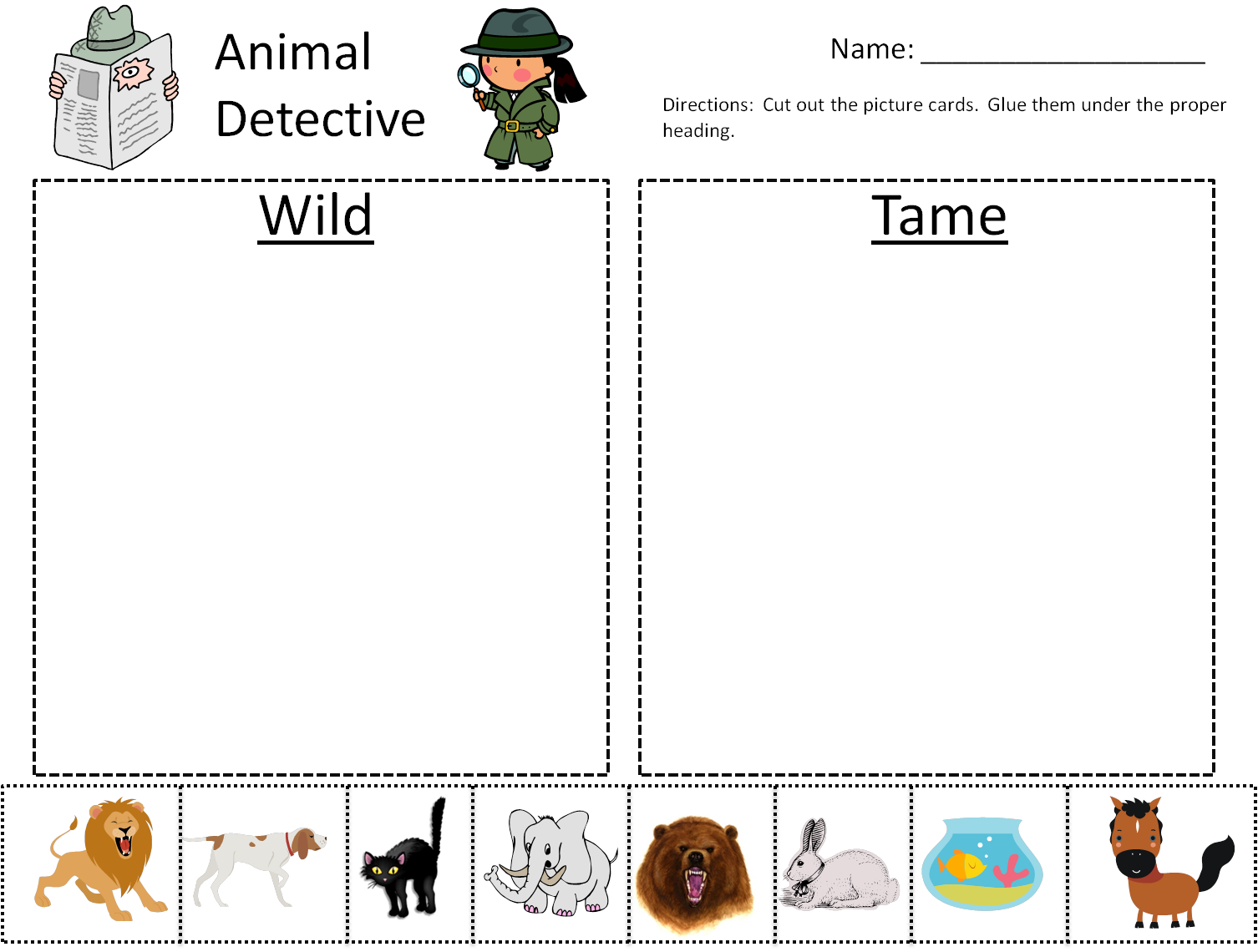 After Thanksgiving Break My Kindergarten Class Will Start A Unit On Wild Animals Here Is A