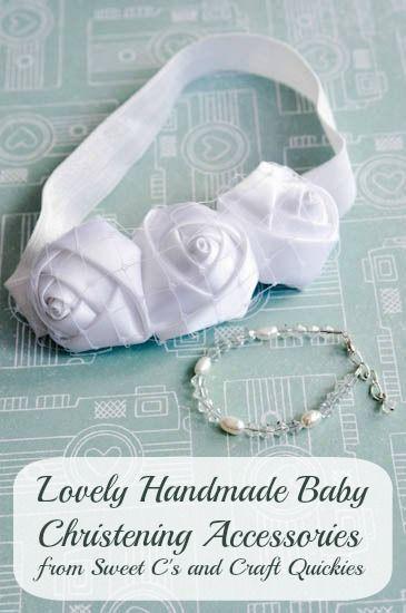 Baby Christening Headband Tutorial #babyheadbandtutorial