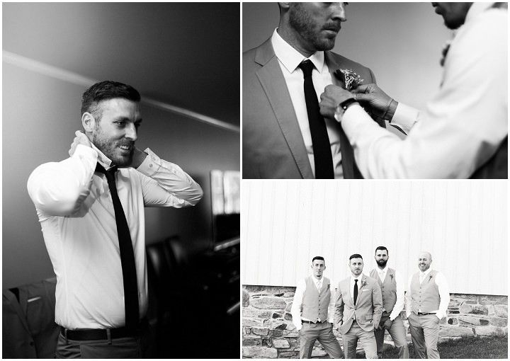 Katy and Geoff's Grey and Yellow Laid Back Farm Wedding by Joy Michelle Photography