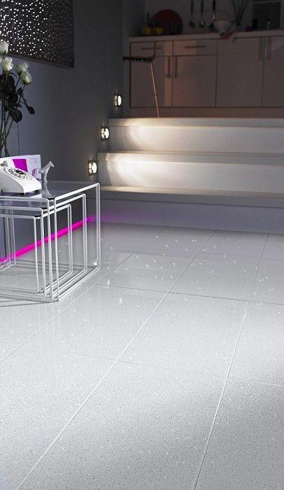 White Stardust Glitter Floor White Tile Floor Flooring Glitter Floor