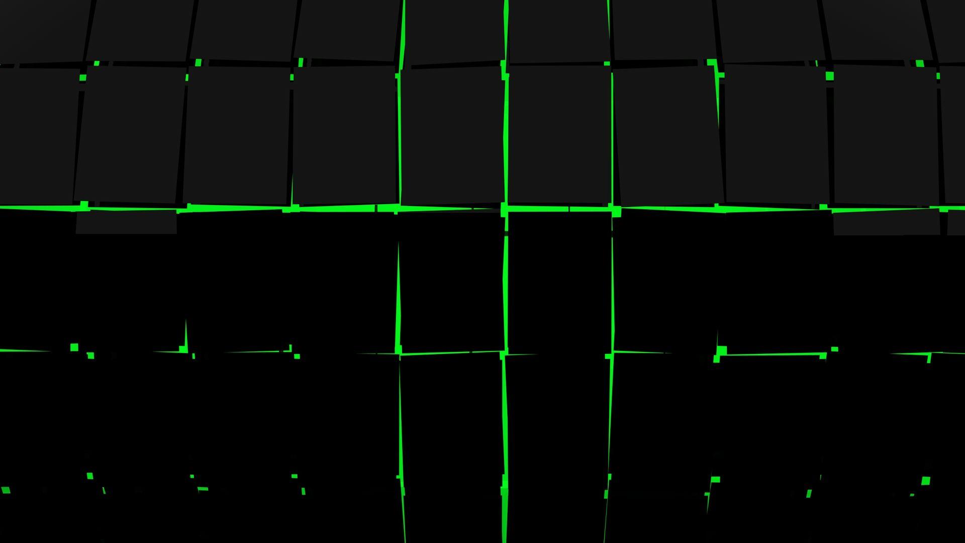 Abstract Dark Green Wallpaper Hd