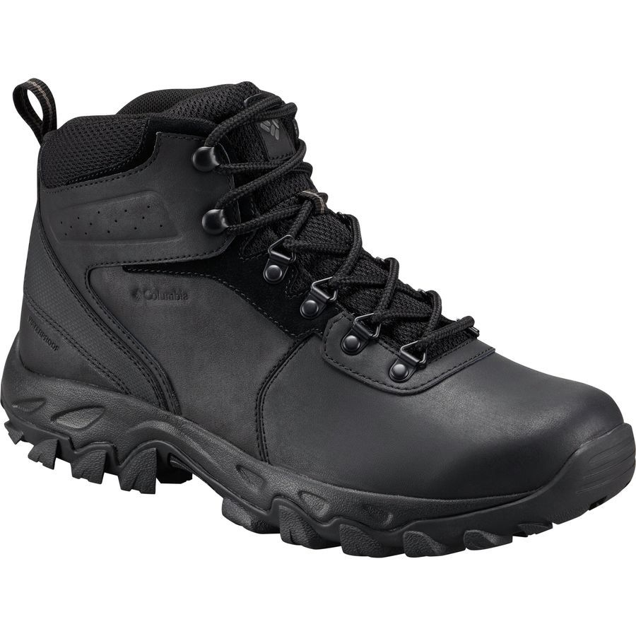Columbia NEWTON RIDGE PLUS II WATERPROOF - Walking boots - shark/black