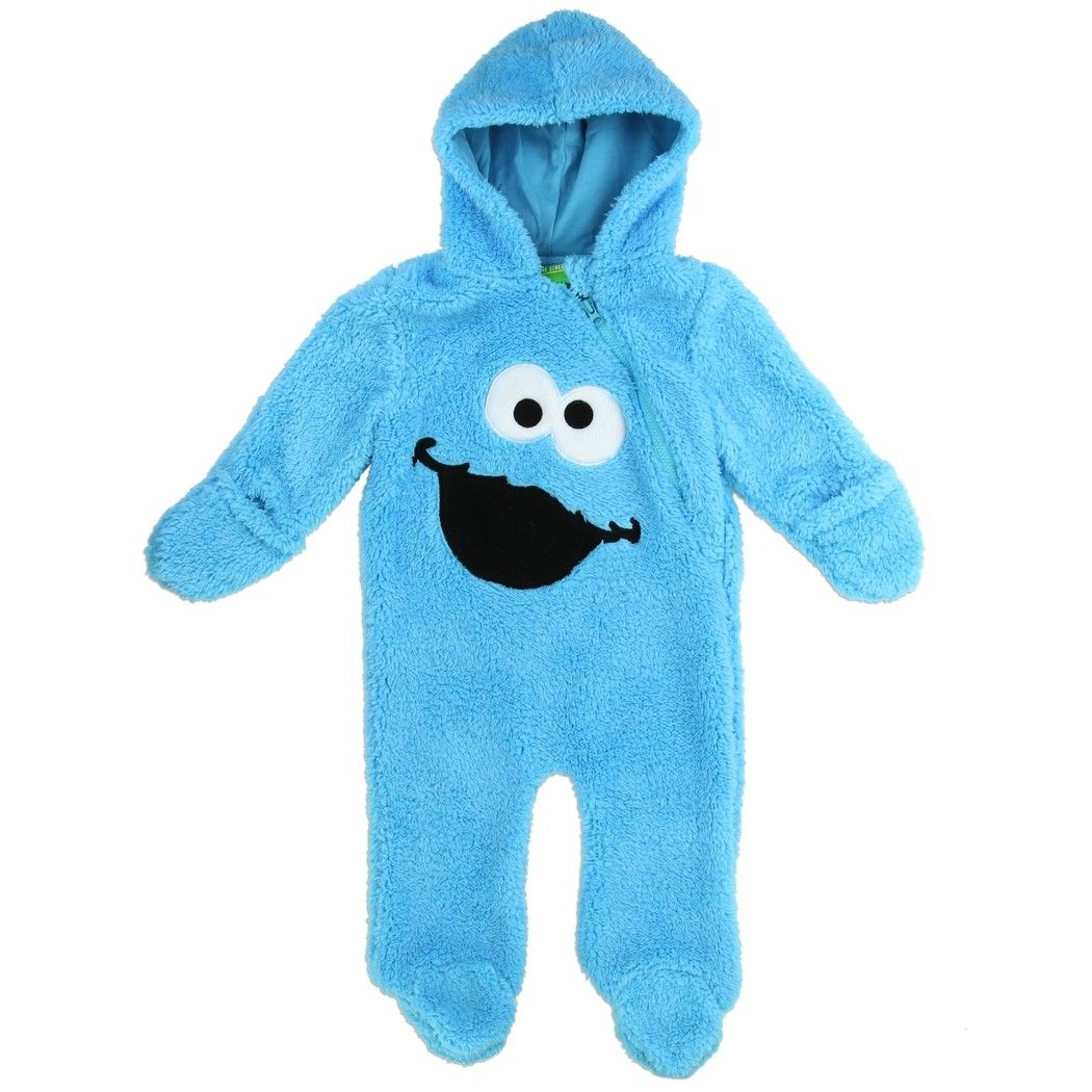 Color Blue Sizes 0 3 Months 3 6 Months 6 9 Months Made From 100 Polyester Label Sesame Street Official Monster Clothes Kids Fashion Clothes Little Boy Fashion