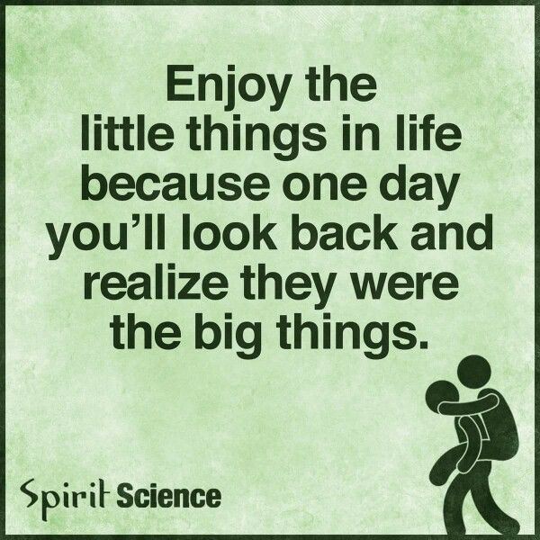 Enjoy The Little Things Spirit Science How To Memorize Things Memorable Quotes