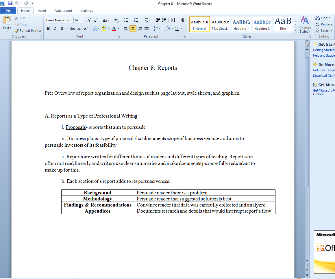 How to Make a Textbook Chapter Outline Notes template
