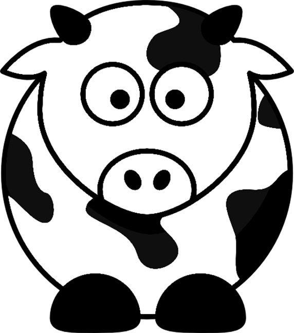 Cartoon Cow Farm Animal Coloring Page Printout Playroom