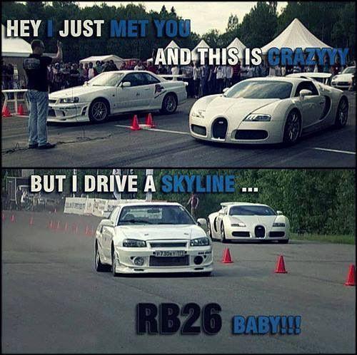Auto Quote Rb26 Kicks Asses Nissan Gtr Skyline Bugatti Www