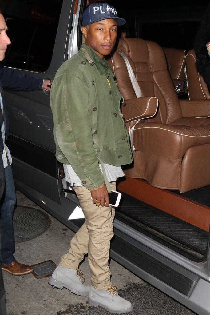4db6c4147656c Pharrell Williams Rocks Timberland Boots On  Today  Show