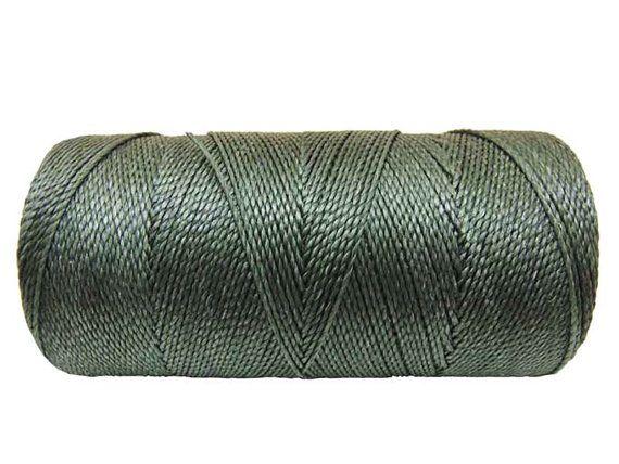 Waxed Polyester Cord 1 spool  Linhasita  Dark Green by kindez