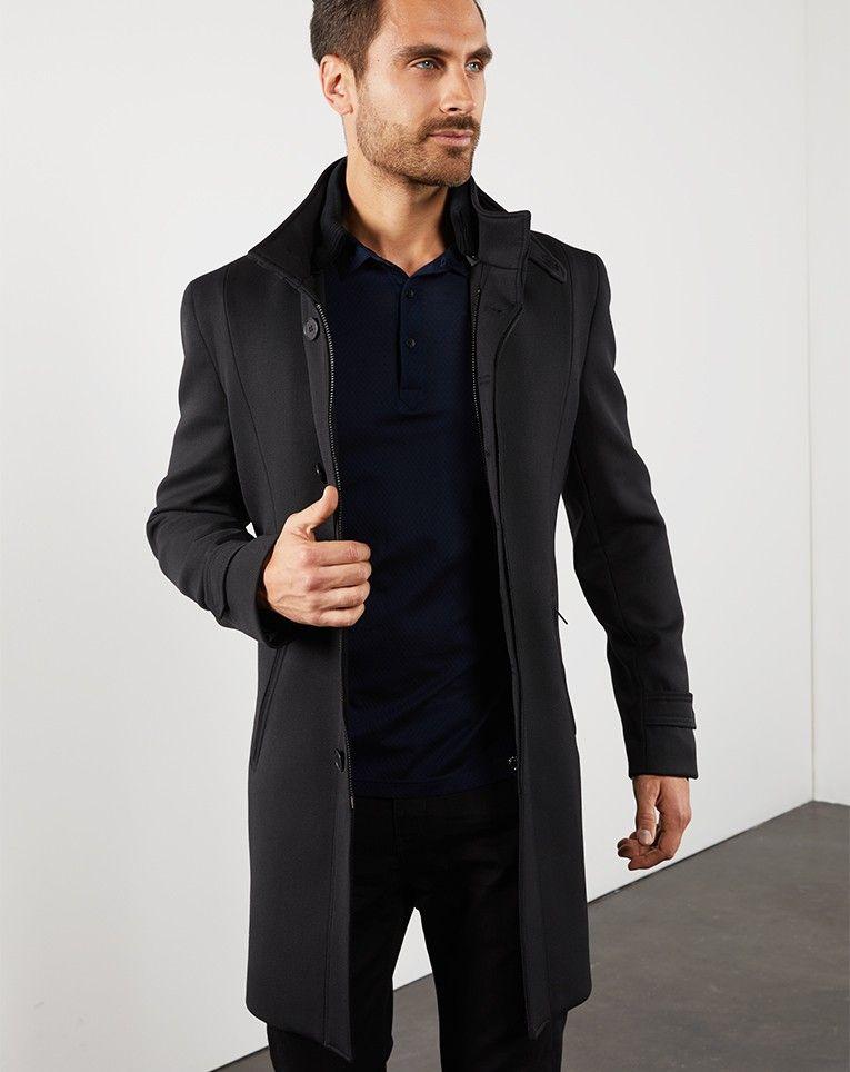 vente la plus chaude plus près de plus grand choix de MANTEAU+À+COL+OFFICIER+NOIR | Mode homme | Col officier ...