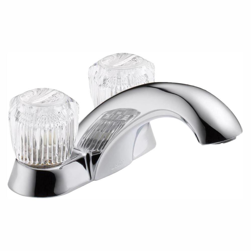 Delta Classic 4 In Centerset 2 Handle Bathroom Faucet In Chrome